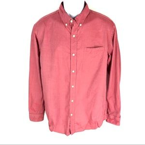 Banana Republic Men's Red Button Front Shirt L